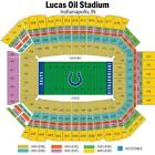 Colts vs Broncos - 4 Tickets -  Lower Level Row 14