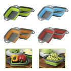 nw Collapsible Colander Silicone Colander with Handle Kitchen Strainer