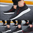 Mens Fashion Lace Up Mesh Upper Lightweight Running Shoes Breathable Sneakers
