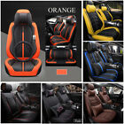 5 Seats Luxury Car Seat Covers PU Leather Protector+Cushions+ Headrests Pillow for sale  Altadena