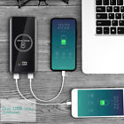 2in1 Qi Wireless 20000mAh LCD Power Bank Portable 2USB Battery Charger For Phone