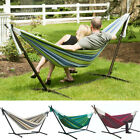 Large Hammock Steel Frame Stand Cotton Combo Swing Chair Bed Carry Bag Outdoor