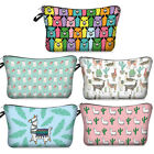 Women Cute Sloth Llama Printed Makeup Storage Bag Cosmetic Handbag Toiletry Bag