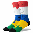 Stance Men's Face Melter Crew Height Socks Multi Footwear Casual Smiley