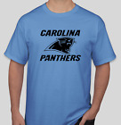 Carolina Panthers Blue T-Shirt black Graphics Cotton Adult Logo S-2XL $11.99 USD on eBay