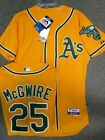 MARK MCGWIRE OAKLAND ATHLETICS AUTHENTIC GOLD JERSEY MAJESTIC SIZE 40 OR 44
