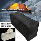 Black Heavy Duty Waterproof Outdoor Cushion Storage Bag Garden Furniture Covers