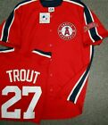 MIKE TROUT ANGELS MENS LARGE SEWN JERSEY NEW MAJESTIC