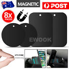 8x Replacement Metal Plate Disc For Magnetic Car Dash Phone Gps Pda Mount Hold