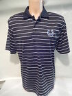9803 Mens INDIANAPOLIS COLTS DRI FIT Performance STRIPED POLO Shirt BLACK $6.99 USD on eBay