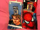 STAR WARS The Clone Wars or SPIDERMAN BEACH / POOL TOWEL  NEW with tag~FREE SHIP $10.99 USD on eBay