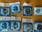Lot of 7+1 FursonaPins.com (7 Black Nickel + 1 Gold-Plated) Hard Enamel Pins image