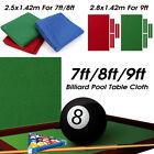 Professional Billiard Pool Table Cloth Mat Cover Felt Accessories For 7/8/9FT $51.25 CAD on eBay