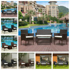 3/4 Piece Rattan Garden Furniture Conservatory Sofa Table Chair Set Outdoor New