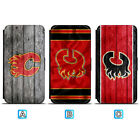 Calgary Flames Leather Case For Samsung Galaxy S10 S10e Lite Plus S9 S8 $8.49 USD on eBay