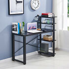 Home Office Computer Desk Laptop PC Study Table w/ Storage Shelves Space Saving