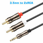 3/6FT Aux Audio 3.5mm Stereo Male to 2 RCA Y Splitter Cable FOR IPOD MP3 Tablet