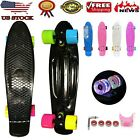"Scooter Penny Board 22"" Skateboard w/FREE T Tool Combo 4 Flashing Wheel Fast image"