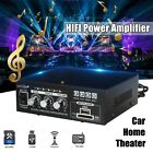 220V/110V Car Home Theater Amplifier HIFI bluetooth Stereo Audio AMP USB SD FM