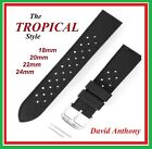 RETRO TROPICAL STYLE 18MM, 20MM, 22MM, 24MM DIVERS SILICONE RUBBER WATCH STRAP. image