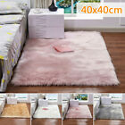 Cover Warm Furry Carpet Mat Fluffy Rug Home Bedside Decor Washable 40 X 40cm