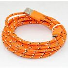 Micro USB fits SAMSUNG Galaxy FAST Charger Strong Fabric Braided Cable Data Lead
