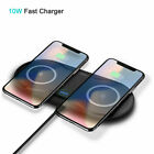 Dual/Single Wireless Charger Fast Charging Pad For Samsung S9 S8 Note10 Plus S10
