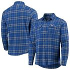 Chicago Cubs Antigua Flannel Button-Up Shirt - Royal/Gray on Ebay