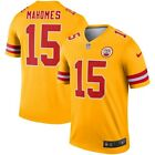 Men's Patrick Mahomes Yellow Kansas City Chiefs Football Inverted Legend Jersey $89.99 CAD on eBay