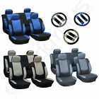 3MM Sponge Padding Car Seat Covers W/4 HeadRest/Steering Wheel Covers For Ford $24.99 USD on eBay