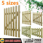 Rustic Wooden Picket Gate Impregnated Pinewood Rot-resistant Garden Patio 5 Size