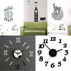 HOT DIY Wall Clock Home Modern Decoration Crystal Mirror Vinyl Art Sticker Decal