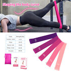 Workout Resistance Bands Loop Set Fitness Booty Leg Exercise Band Pull Ring US image