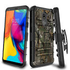For LG Stylo 4/5/5x Plus Belt Clip Kickstand Phone Case Shockproof Holster Cover