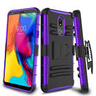 For LG Stylo 4/5/5+ Plus Belt Clip Kickstand Phone Case Shockproof Holster Cover