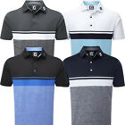 FootJoy Mens Lisle Colour Block with Space Dye Short Sleeve Golf Polo Shirt
