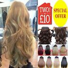 "24"" One Piece Clip In Hair Extensions Pale Golden Ash Blonde Dark Light Plum Red"
