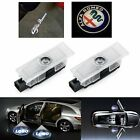 Fit Alfa Romeo Cree Led Projector Car Door Lights Shadow Puddle Courtesy Logo Uk