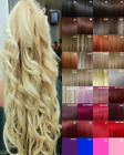 Hair Extensions Clip in Hair Extension Human Feel Dark Tulip Copper Blonde Red