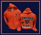 Chicago Bears Mens Orange Zipper 2-Sided  Hoodie Hoodie Sweatshirt $42.99 USD on eBay