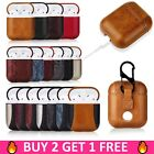 Premium Luxury Leather AirPods Charging Case Cover Skin for Apple Airpod 1/2