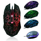 Professional Colorful Backlight 4000DPI 6 Button Optical Wired Gaming Mouse Mice