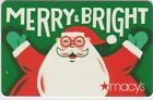 Macy's Christmas Holiday Gift Cards - Collectible / No Value - Take Your Pick! For Sale