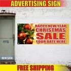 HAPPY NEW YEAR CHRISTMAS SALE YOUR DATE Advertising Banner Vinyl Mesh Decal Sign