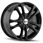 4-Touren TR22 17x7 5x110/5x115 +40mm Black Wheels Rims 17