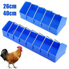 26/40cm Plastic Sturdy Poultry Trough Feeder Chicken Poultry Pigeon Feeder UK