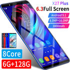 P36 Pro 6.3 Inch Smart Phone Water Drop Screen Dual Sim 4800mah Android Os 9.1