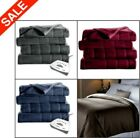 Sunbeam Fleece Electric Heated Blanket King Queen Full Twin ASSORTED Colors NEW image