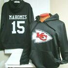 MAHOMES KANSAS CITY CHIEFS BLACK AUTHENTIC NFL JERSEY HOODY SWEATSHIRT NEW $34.99 USD on eBay