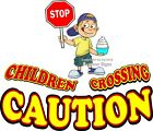 Caution Children Crossing DECAL Choose Your Size Concession Food Truck